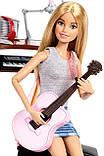 Игровой набор Барби шарнирная музыкант с гитарой и пианино, Barbie Girls Music Blonde Activity, Mattel, фото 3