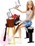 Игровой набор Барби шарнирная музыкант с гитарой и пианино, Barbie Girls Music Blonde Activity, Mattel, фото 4