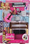 Игровой набор Барби шарнирная музыкант с гитарой и пианино, Barbie Girls Music Blonde Activity, Mattel, фото 5