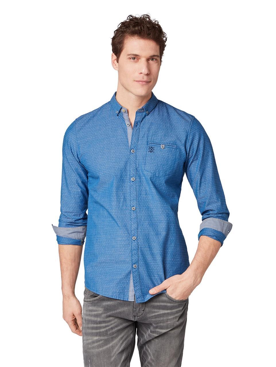 Рубашка Tom Tailor 1008512 M Синий