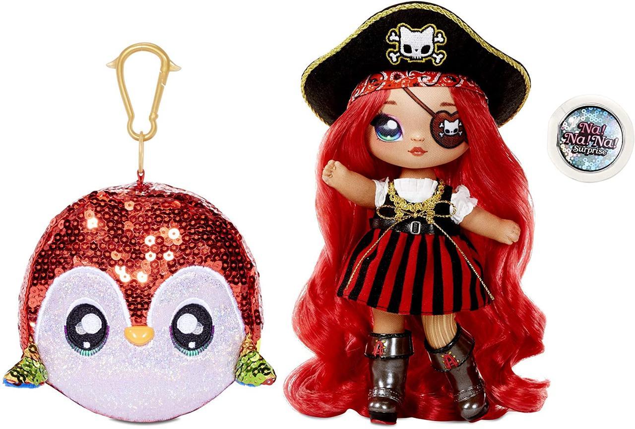 "Новинка! Набор сюрприз с куклой и мягкой игрушкой сумочкой ""Пират"" MGA Entertainment Na! Na! Na! Surprise"