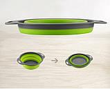 Дуршлаг складной COLLAPSIBLE FILTER BASKETS (силиконовый). Цвет: зеленый, фото 4