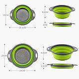 Дуршлаг складной COLLAPSIBLE FILTER BASKETS (силиконовый). Цвет: зеленый, фото 5