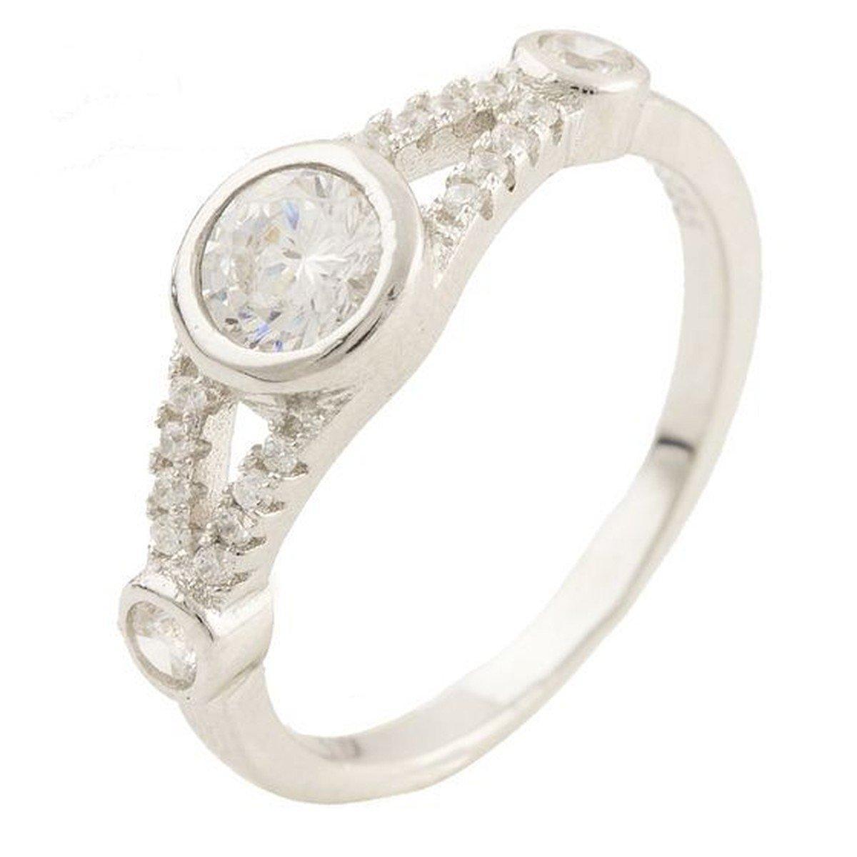 Серебряное кольцо DreamJewelry с фианитами (1160435) 18 размер
