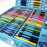 Художественный набор чемодан для творчества 150 предметов. Цвет: голубой, фото 2