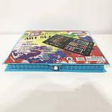 Художественный набор чемодан для творчества 150 предметов. Цвет: голубой, фото 3