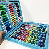 Художественный набор чемодан для творчества 150 предметов. Цвет: голубой, фото 5