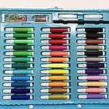 Художественный набор чемодан для творчества 150 предметов. Цвет: голубой, фото 6
