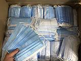 Супер качество: маски медицинские, Защитные маски, синие, паянные. Произведенные на заводе. Не шитые. 500, фото 5
