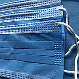 Маски медицинские, Защитные маски, синие, паянные. Произведенные на заводе. Не шитые. 200 шт/упаковка, фото 2