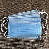 Маски медицинские, Защитные маски, синие, паянные. Произведенные на заводе. Не шитые. 200 шт/упаковка, фото 3