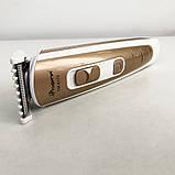 Машинка для стрижки волос Gemei GM-6113 аккумуляторная. Цвет: золотой, фото 5