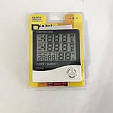 Термометр-гигрометр HTC-2 с часами и выносным датчиком температуры, фото 5