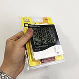 Термометр-гигрометр HTC-2 с часами и выносным датчиком температуры, фото 7