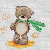 Набор для вышивки крестом Luca-S B1092 Медвежонок Бруно