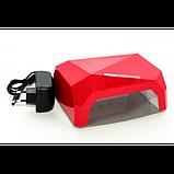Сушилка для ногтей UV LAMP CCF+LED. Цвет: красный, фото 2