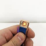 Зажигалка спиральная USB ZGP-1. Цвет: синий, фото 2