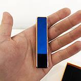 Зажигалка спиральная USB ZGP-1. Цвет: синий, фото 3