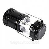 Туристический фонарь-лампа на солнечной батарее CAMPING G85 Черный, фото 2