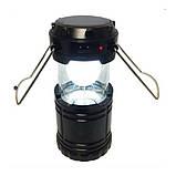 Туристический фонарь-лампа на солнечной батарее CAMPING G85 Черный, фото 3