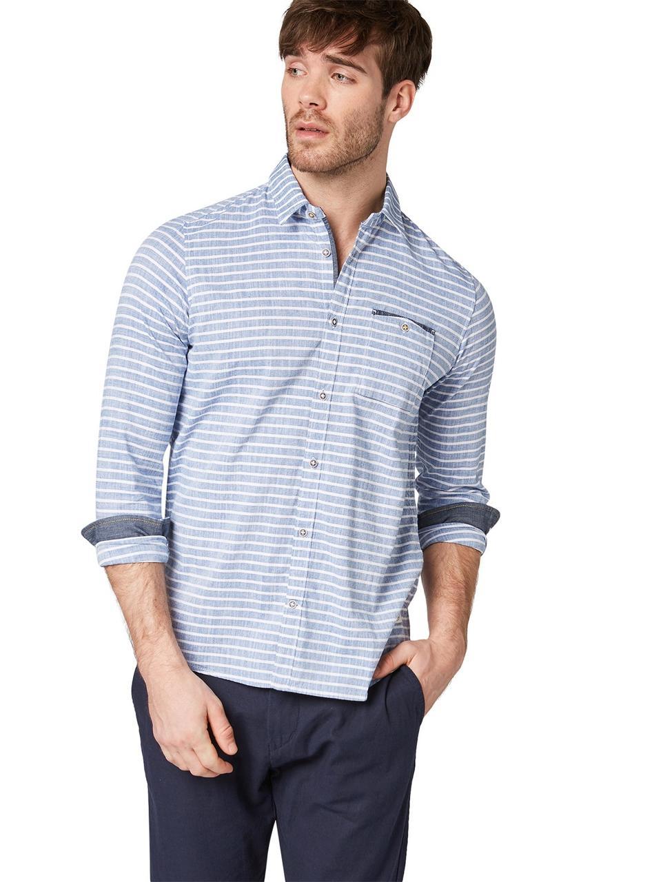 Рубашка Tom Tailor 1008592_16269 M Голубой