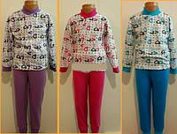 Пижама байковая для девочки р 28-34