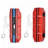 Щетка магнитная для мытья стекол с двух сторон Glider Красная, фото 3