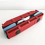 Щетка магнитная для мытья стекол с двух сторон Glider Красная, фото 7