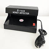 Детектор валют ультрафиолетовый AD-118AB УФ лампа для денег, фото 4