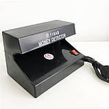 Детектор валют ультрафиолетовый AD-118AB УФ лампа для денег, фото 5