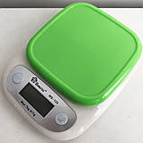 Весы кухонные DOMOTEC MS-125 Plastic. Цвет: зеленый, фото 10