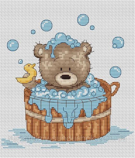 Набор для вышивки крестом Luca-S B1038 Медвежонок Бруно