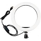 Кольцевая лампа 16 см (USB, 5Вт, 3200-5500К), фото 3