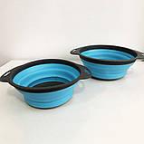 Дуршлаг складной COLLAPSIBLE FILTER BASKETS (силиконовый). Цвет: голубой, фото 5