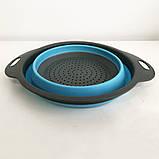 Дуршлаг складной COLLAPSIBLE FILTER BASKETS (силиконовый). Цвет: голубой, фото 8