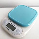 Весы кухонные DOMOTEC MS-125 Plastic. Цвет: голубой, фото 4