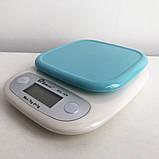 Весы кухонные DOMOTEC MS-125 Plastic. Цвет: голубой, фото 5