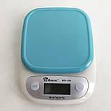 Весы кухонные DOMOTEC MS-125 Plastic. Цвет: голубой, фото 6