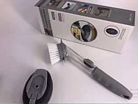 Щетка для мытья посуды со специальным дозатором
