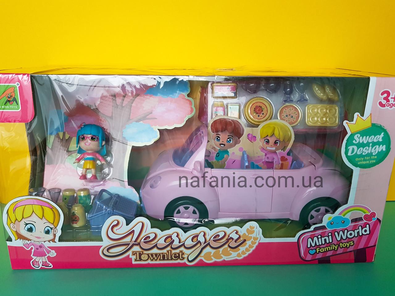 Игровой набор розовый кабриолет для ЛОЛ  с аксессуарами для пикника и кукольной фигуркой