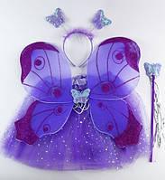 Набор карнавальный Бабочка с юбкой (фиолет, голуб), фото 1