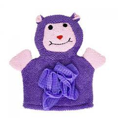 "Мочалка-рукавичка ""Зверушки"", фиолетовая"