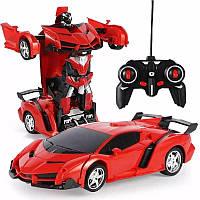 Радиоуправляемая машинка-трансформер Lamborgini Robot Car Красный