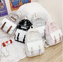 Модний великий тканинний набір 4в1в клітку Рюкзак, сумка, косметичка, пенал, фото 3