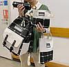 Модный большой тканевый набор 4в1в клетку Рюкзак, сумка, косметичка, пенал, фото 4