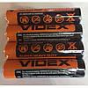 Батарейка VIDEX 1.5V АAA R03P (4шт/60шт/1440шт)