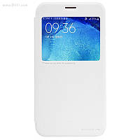 Чехол Nillkin Sparkle Leather Case для Samsung Galaxy J7 (J700) Pure White
