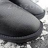 Шкіряні уггі UGG чоловічі чорні зі змійкою високі еко шкіра зимові черевики валянки теплі, фото 3