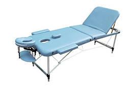 Массажный стол ZENET ZET-1049/M light blue 3-х секционная