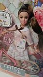 Кукла Emily с велосипедом, шарнирная, 29 см, шлем, букет QJ077, фото 2